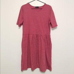 GAP Striped Fit and Flare Dress